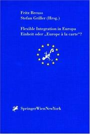 Cover of: Flexible Integration in Europa