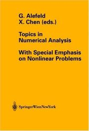Cover of: Topics in Numerical Analysis |