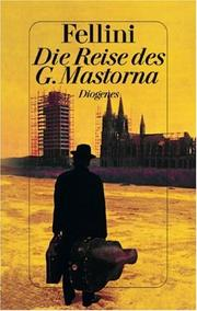 Cover of: Die Reise des G. Mastorna. Treatment und Drehbuch