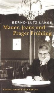 Cover of: Mauer, Jeans und Prager Frühling. Patriarchat am Ende?