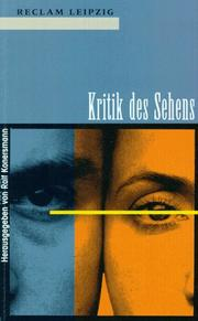 Cover of: Kritik des Sehens