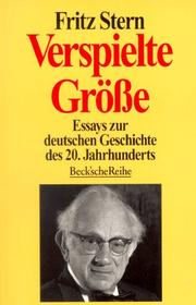 Cover of: Verspielte Grosse