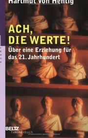 Cover of: Ach, die Werte!