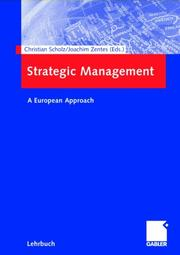 Cover of: Strategic Management (Arbeitstitel) . A European Approach