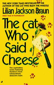 Cover of: The Cat Who Said Cheese (Cat Who...)