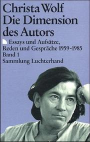 Cover of: Die Dimension des Autors, in 2 Bdn.