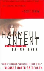 Cover of: Harmful intent