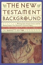 Cover of: The New Testament background