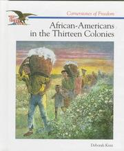 Cover of: African-Americans in the thirteen colonies