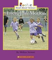 Cover of: Energy in Motion | Melissa Stewart