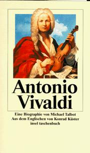 Cover of: Antonio Vivaldi. Eine Biographie