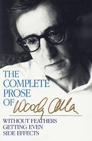 Cover of: The complete prose of Woody allen