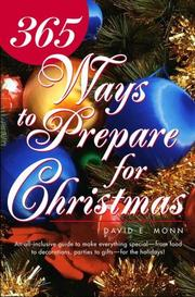 Cover of: 365 Ways to Prepare for Christmas | David E. Monn