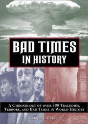 Cover of: Bad days in history | Roland C. Barker