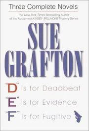 Cover of: Three complete novels | Sue Grafton