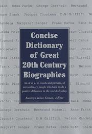 Cover of: Concise Dictionary of Great 20th Century Biographies by RH Value Publishing