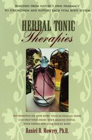 Cover of: Herbal tonic therapies