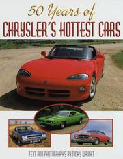 Cover of: 50 Years of Chrysler's Hottest Cars