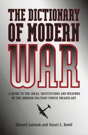 Cover of: A dictionary of modern war