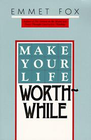 Cover of: Make your life worth while