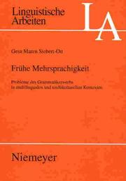 Cover of: Fruhe Mehrsprachigkeit | Gesa Maren Siebert-Ott