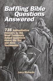Cover of: Baffling Bible questions answered