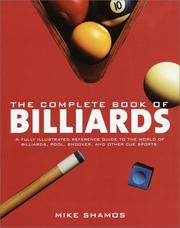 Cover of: The complete book of billiards | Michael Ian Shamos