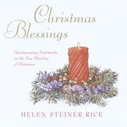 Cover of: Christmas blessings: y Helen Steiner Rice