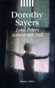 Cover of: Lord Peters schwerster Fall