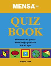 Cover of: Mensa Quiz Book