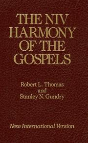 Cover of: The NIV harmony of the Gospels |