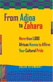 Cover of: From Adjoa to Zahara