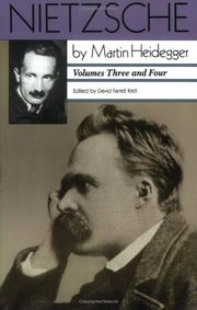 Cover of: Nietzsche: Vols. 3 and 4 (Vol. 3: The Will to Power as Knowledge and as Metaphysics; Vol. 4: Nihilism)