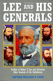 Cover of: Lee and his generals | William Parker Snow