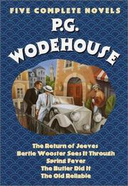 Cover of: P. G. Wodehouse