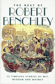 Cover of: The Best of Robert Benchley