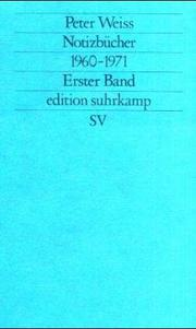 Cover of: Notizbücher 1960 - 1971