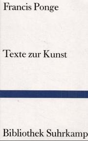 Cover of: Texte zur Kunst