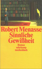 Cover of: Sinnliche Gewißheit