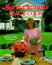 Cover of: Martha Stewart's Quick cook