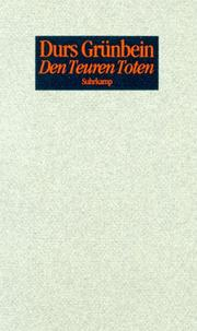 Cover of: Den Teuren Toten. 33 Epitaphe