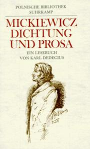 Cover of: Dichtung und Prosa