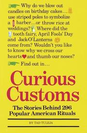 Cover of: Curious Customs (Stonesong Press Books) | Thaddeus F. Tuleja