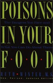 Cover of: Poisons in Your Food | Ruth Winter