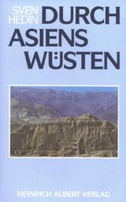 Cover of: Durch Asiens Wüsten