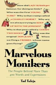 Cover of: Marvelous Monikers