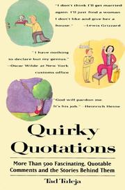 Cover of: Quirky quotations | Tad Tuleja