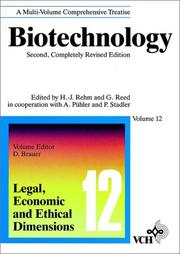 Cover of: Biotechnology, 2E, Vol. 12, Modern Biotechnology | Dieter Brauer