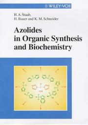 Cover of: Azoliten in organic synthesis and biochemistry |