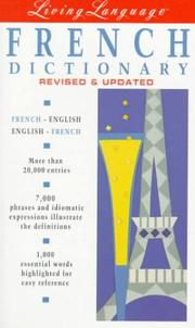 Cover of: Living language French dictionary | Liliane Lazar